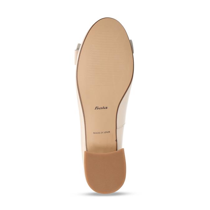 Béžové dámské kožené lodičky na nízkém podpatku bata, béžová, 524-8627 - 18