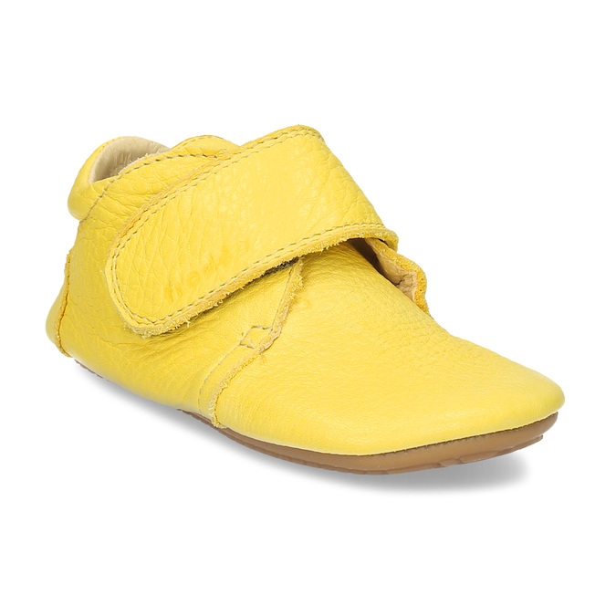 DOMÁCÍ OBUV DĚTSKÁ ŽLUTÁ KOŽENÁ froddo, žlutá, 104-8600 - 13