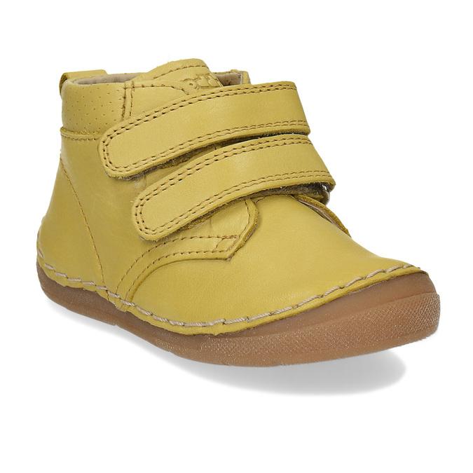 Žluté dětské kožené kotníkové tenisky froddo, žlutá, 124-8613 - 13