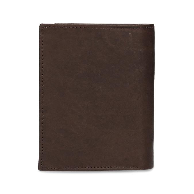 Tmavě hnědá pánská kožená peněženky bata, hnědá, 944-4639 - 16