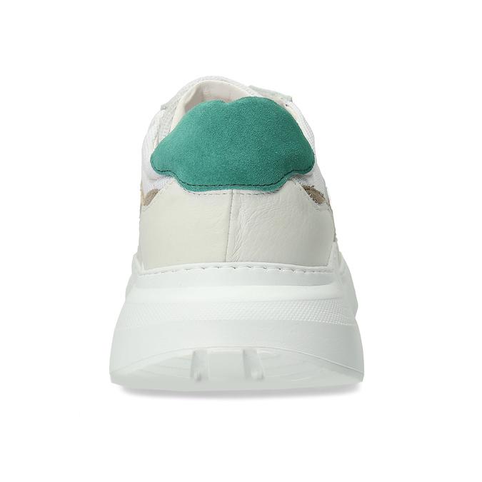 Pánské kožené bílé Chunky tenisky s barevnými detaily bata, bílá, 846-1670 - 15