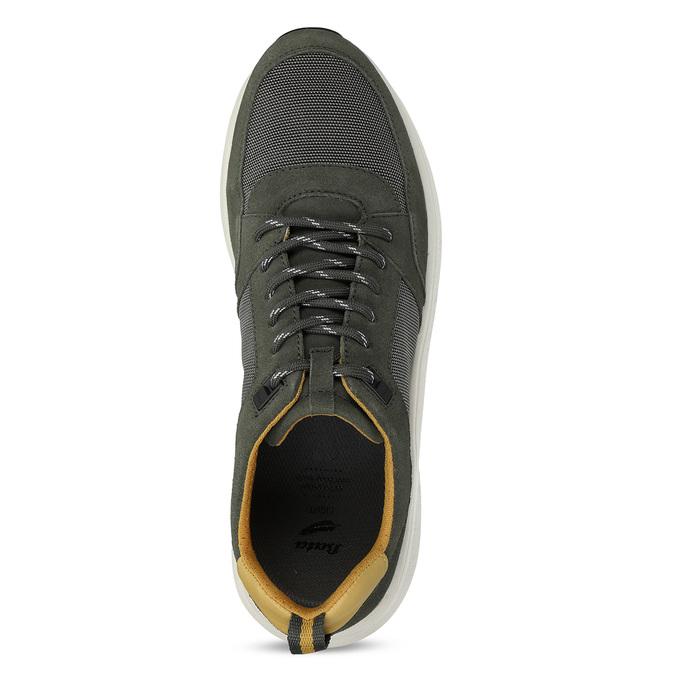 Khaki kožené pánské tenisky bata-light, zelená, 843-7638 - 17