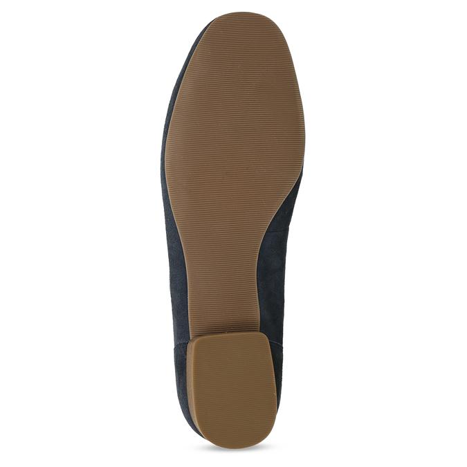 Dámské mokasíny z broušené kůže se stuhou bata, modrá, 513-9602 - 18