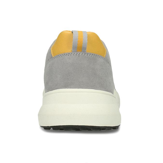 Šedé pánské tenisky z broušené kůže bata-light, šedá, 843-2638 - 15