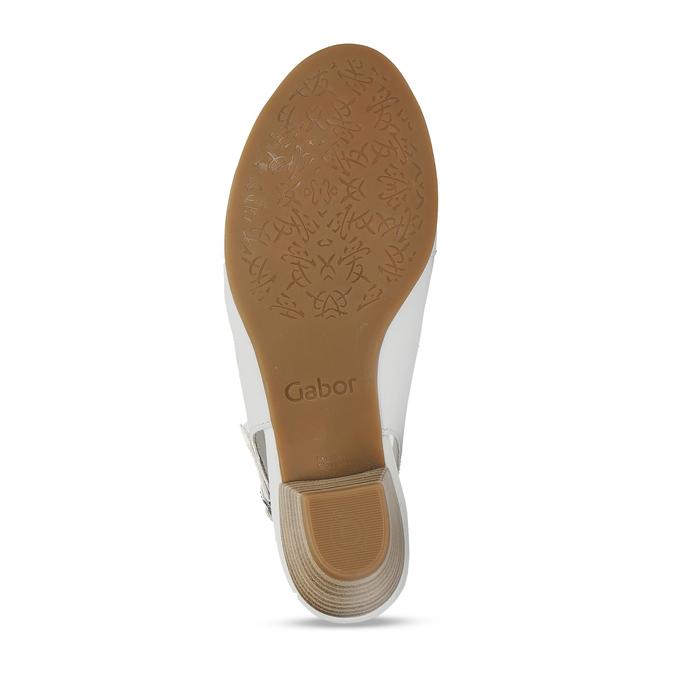 Bílé kožené dámské sandály pro širší chodidla gabor, bílá, 664-1104 - 18