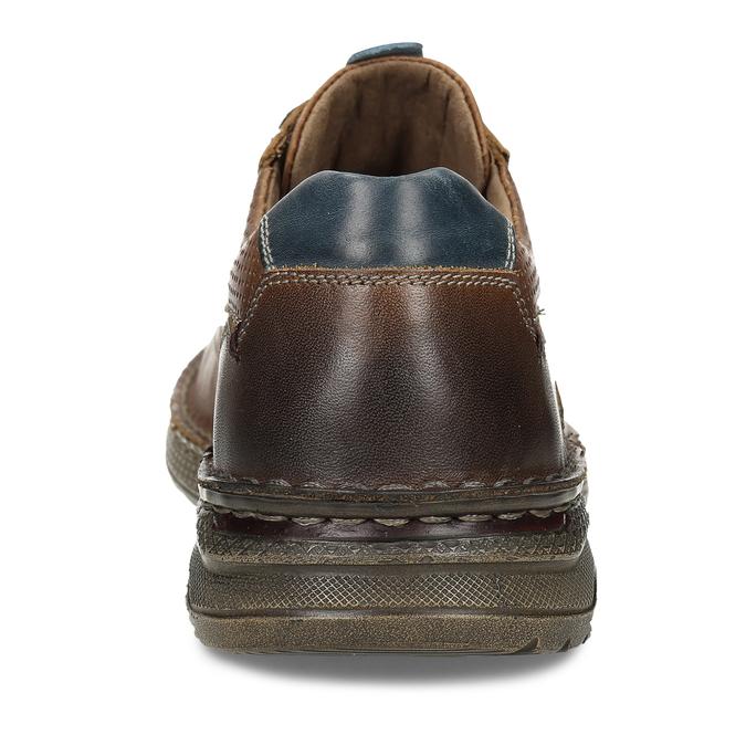Tmavě hnědé kožené neformální polobotky bata, hnědá, 846-3603 - 15