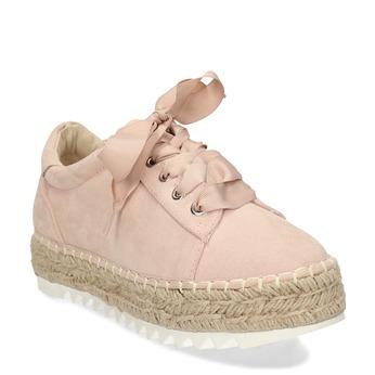 Růžové ležérní tenisky s přírodní podešví bata, růžová, 559-5607 - 13