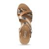 Béžové dámské páskové sandály s hadím motivem gabor, béžová, 564-3101 - 17