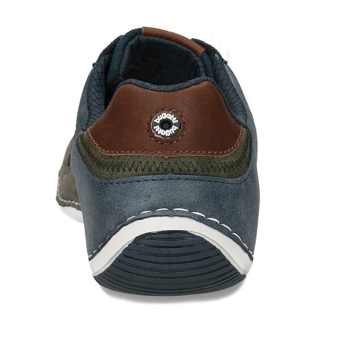 Šedo-modré kožené tenisky s perforací bugatti, šedá, 846-2936 - 15