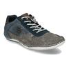 Šedo-modré kožené tenisky s perforací bugatti, šedá, 846-2936 - 13