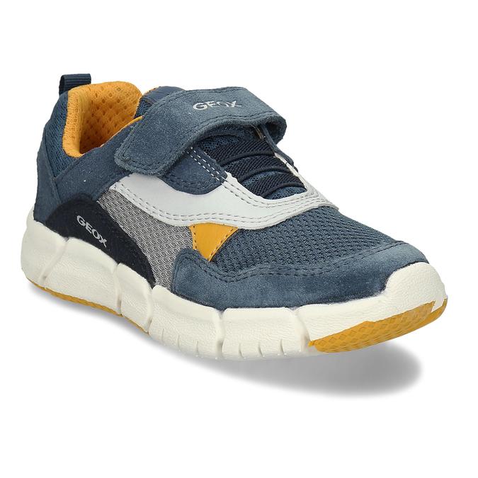 Modré chlapecké tenisky na suchý zip geox, modrá, 319-9715 - 13