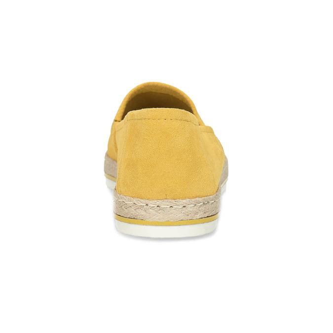 Žluté dámské espadrilky z broušené kůže bata, žlutá, 533-8616 - 15