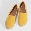 Žluté dámské espadrilky z broušené kůže bata, žlutá, 533-8616 - 16
