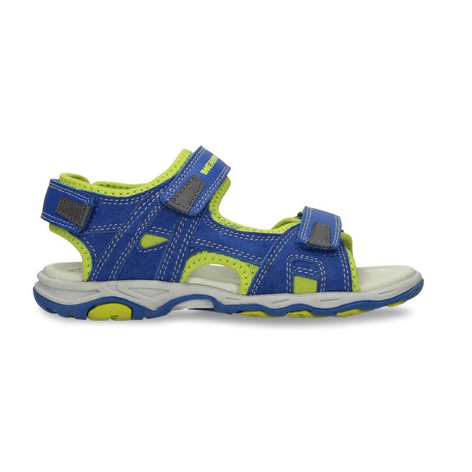 Dětské modré kožené sandály na suchý zip weinbrenner, modrá, 263-9604 - 19