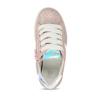 Dětské kožené tenisky s holografickým detailem mini-b, růžová, 223-5609 - 17