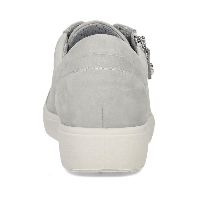Dámské kožené šedé tenisky městského stylu comfit, šedá, 546-2605 - 15