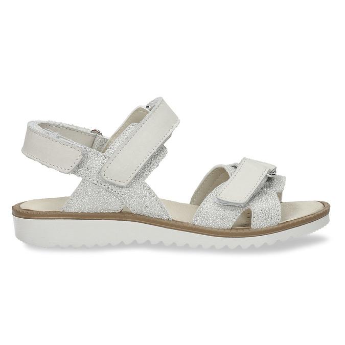 Stříbrné dětské sandály na suché zipy mini-b, stříbrná, 361-8602 - 19
