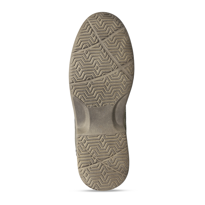 Hnědé kožené letní sandály pánské comfit, hnědá, 856-4761 - 18