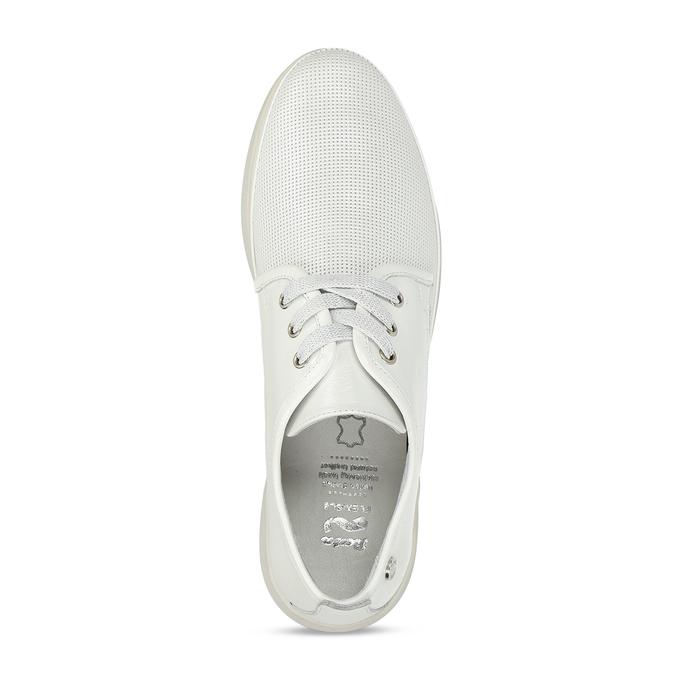 Bílé dámské kožené sportovní polobotky flexible, bílá, 524-1619 - 17