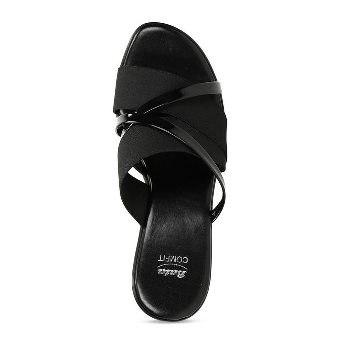 Černé dámské pantofle na platformě comfit, černá, 661-6626 - 17