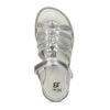 Stříbrné páskové sandály dívčí mini-b, stříbrná, 361-1615 - 17