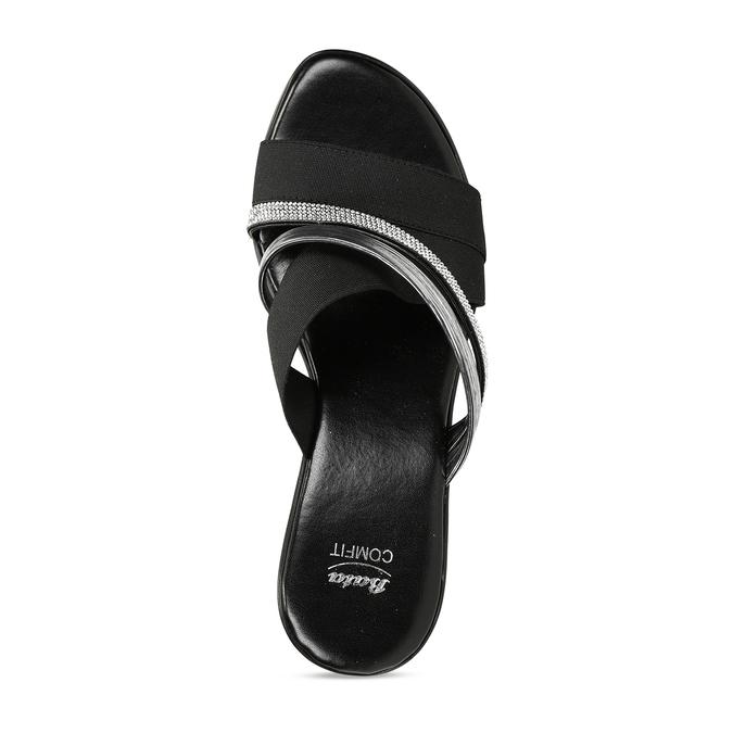 Dámské černé pantofle na platformě comfit, černá, 661-6630 - 17