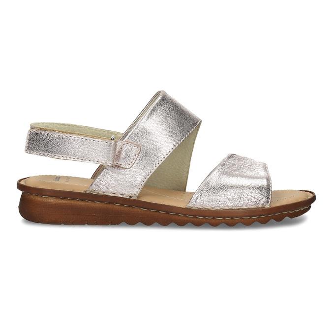 Zlaté dámské kožené sandály comfit, zlatá, 565-8601 - 19