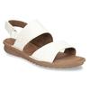 Bílé kožené dámské sandály s prošitím comfit, bílá, 564-1610 - 13