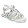 Kožené dívčí sandály kožené mini-b, stříbrná, 361-9616 - 13