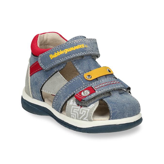 Dětské modré sandály na suché zipy bubblegummers, modrá, 161-9619 - 13