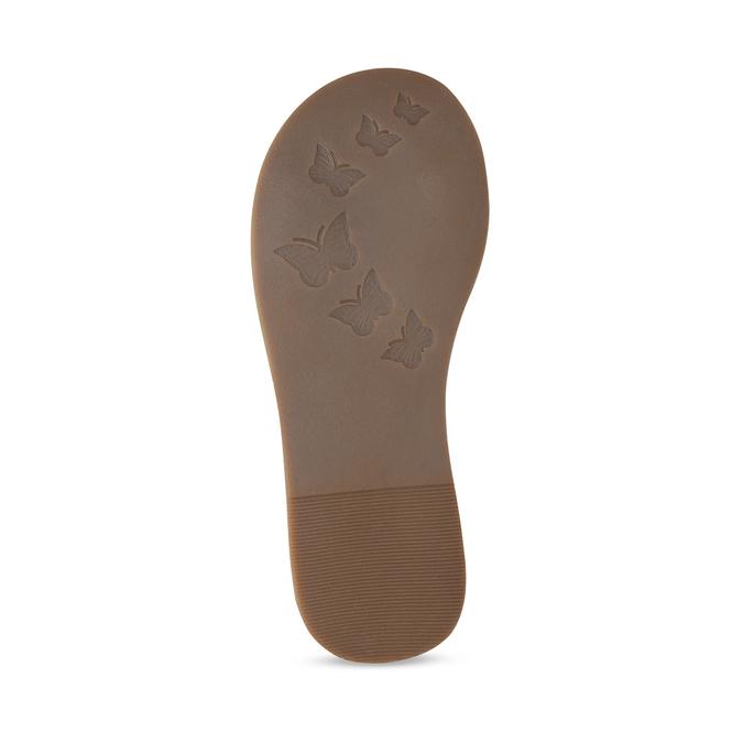 Kožené hnědé dětské sandály s perforací mini-b, hnědá, 466-4619 - 18
