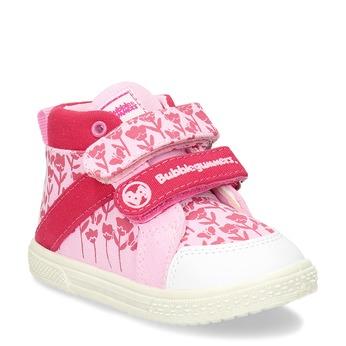 Světle růžové dívčí tenisky na suchý zip bubblegummers, růžová, 129-5604 - 13