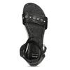 Černé dámské kožené sandály s kamínky bata, černá, 564-6614 - 17