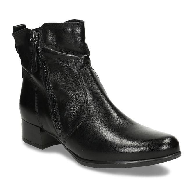 Kožená dámská kotníková obuv černá bata, černá, 594-6692 - 13