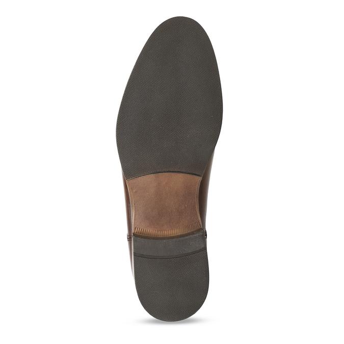 Dámská kožená obuv v Chelsea stylu bata, hnědá, 594-4615 - 18