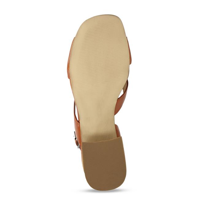 Oranžové dámské sandály na nízkém podpatku bata, oranžová, 664-3602 - 18
