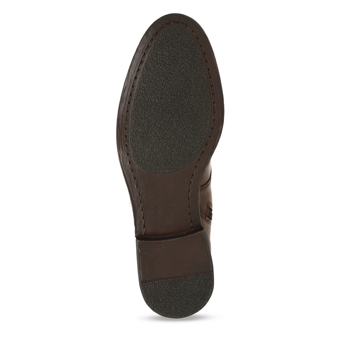 Hnědá dámská kožená kotníková obuv bata, hnědá, 594-4622 - 18