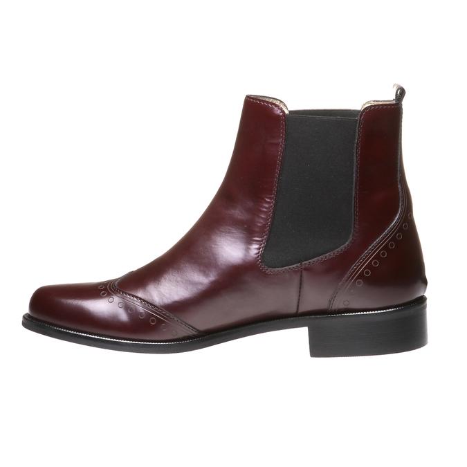 Trendy kožená Chelsea obuv bata, červená, 2019-594-5275 - 15