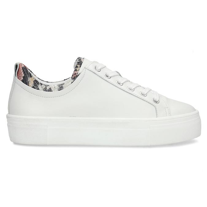 Bílé dámské kožené tenisky s hadí texturou bata, bílá, 544-5601 - 19