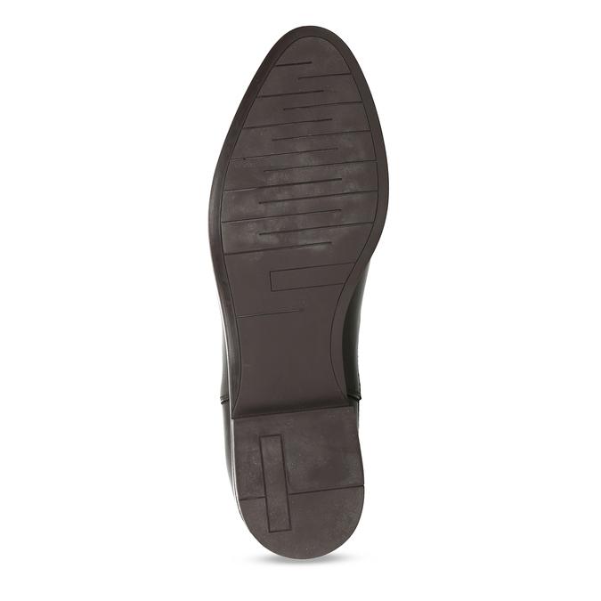 Dámské Chelsea z tmavé kůže s perforací na špičce bata, hnědá, 594-4623 - 18