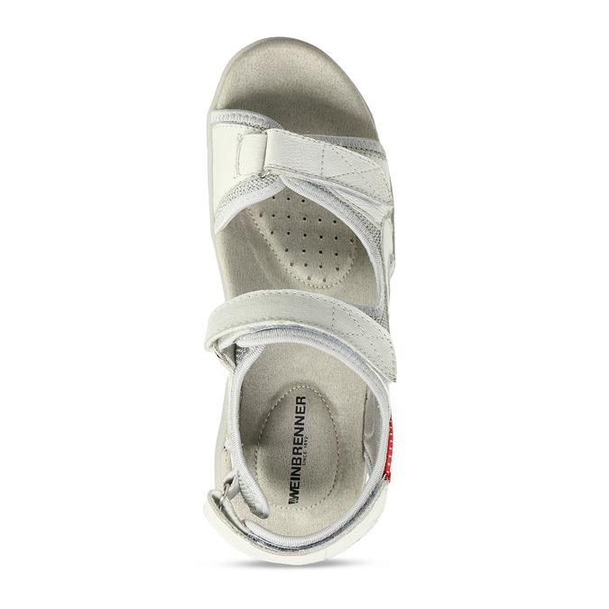 Dámské kožené bílé sandály weinbrenner, bílá, 564-1615 - 17