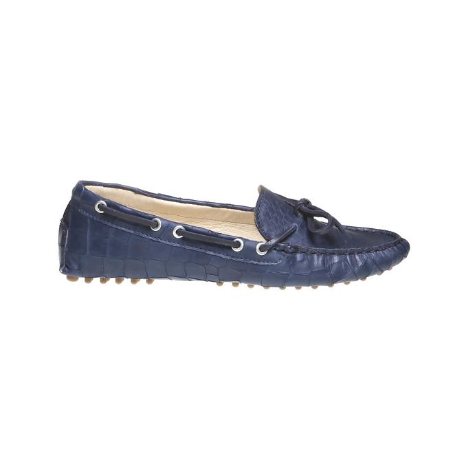Kožené mokasíny bata, modrá, 2019-515-9330 - 26