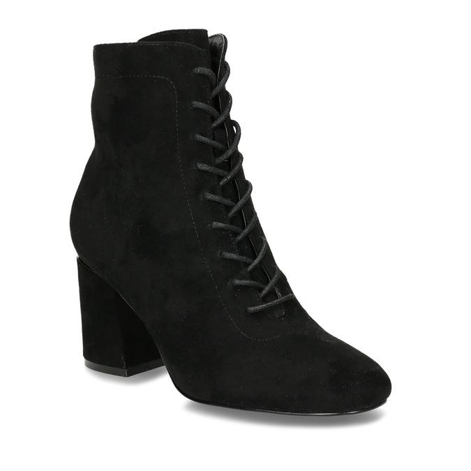 Černá dámská kotníková obuv se šněrováním bata, černá, 799-6613 - 13