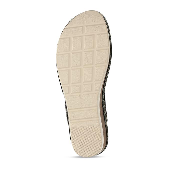 Zlaté dámské sandály na platformě comfit, zlatá, 661-8633 - 18