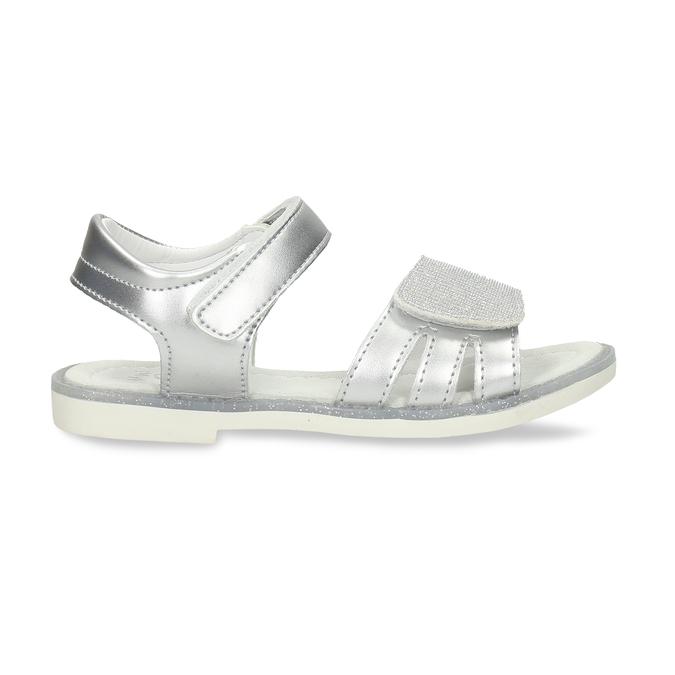 Stříbrné dětské sandály na suché zipy mini-b, stříbrná, 261-1601 - 19