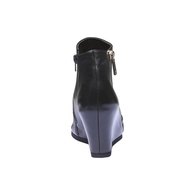 Kožená obuv na klínku hogl, 2018-794-6066 - 17