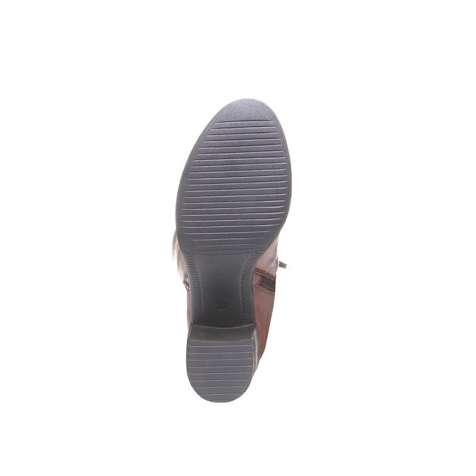 Keren - elegantní kozačky bata, hnědá, 2018-694-4134 - 18