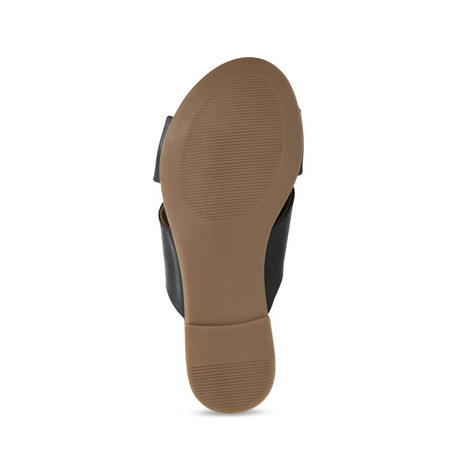 Kožené dámské nazouváky s překříženými pásky bata, černá, 564-9601 - 18