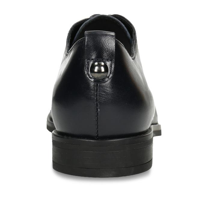POLOBOTKY STYLU DERBY DÁMSKÉ ČERNÉ KOŽENÉ bata, černá, 524-6628 - 15