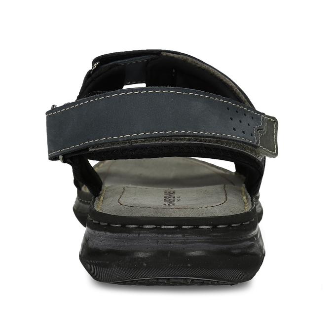 Pánské kožené sandály na suchý zip weinbrenner, modrá, 866-9603 - 15